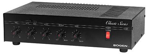 public address amplifier 100 watt c100 bogen paging. Black Bedroom Furniture Sets. Home Design Ideas