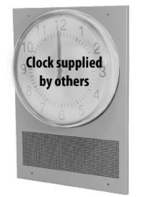 Wall Mount Clock baffle with Speaker (25/70V)