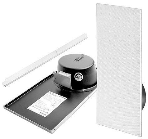 CSD1X2VR Paging Drop-In Ceiling Speakers with Back Can Recessed Volume Tile 1' x 2' White (Package of 2) by Bogen Communications