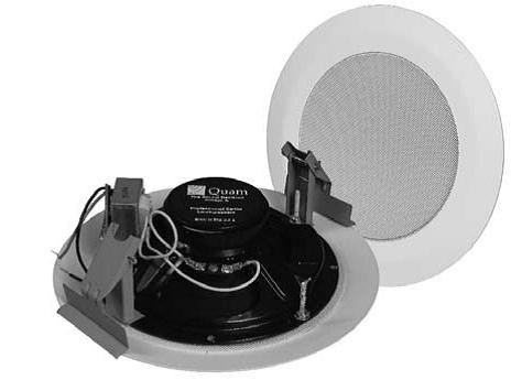 Quam In Ceiling Speaker Kit 25/70V