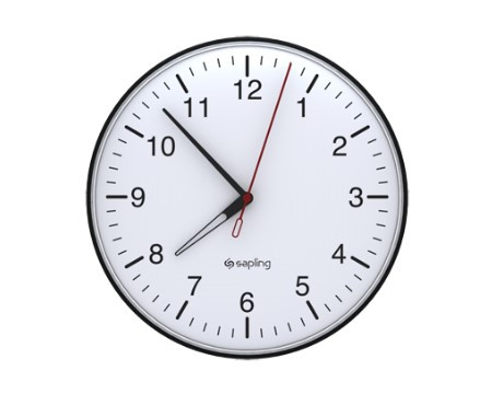 "16"" Wireless Analog Clock for Schools (Black Case)"