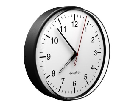"12"" Wireless Analog Clock for Schools (White Case)"