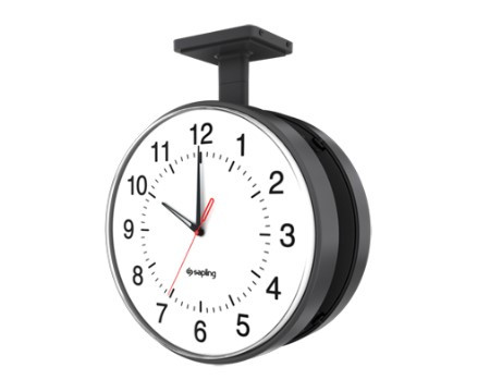 "12"" Electric Clock for Schools (Metal Black Case)"
