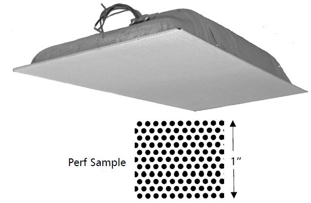 Quam Ceiling Tile Speaker with 25V Extended Frequency Response Transformer