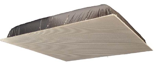 """Quam Ceiling Tile Speaker 24"""" x 24"""" with 25V Rotary Select Transformer (Black)"""