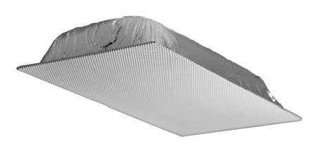 Quam 1' x 2' 70V Ceiling Tile Speaker (Standard Perf Black)