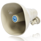 ATLAS HORN SPEAKER WITH 15-WATT 25V/70V/100V TRANSFORMER - BEIGE
