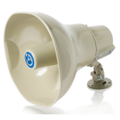 ATLAS HORN SPEAKER WITH 30-WATT 25V/70V/100V TRANSFORMER - BEIGE