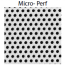Micro-Perf White- Shown as 1'' square sample